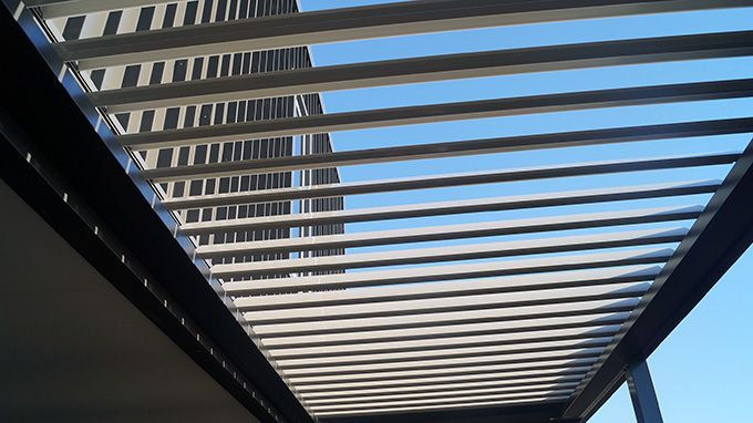 Louvre roofs provide ventilation and light...