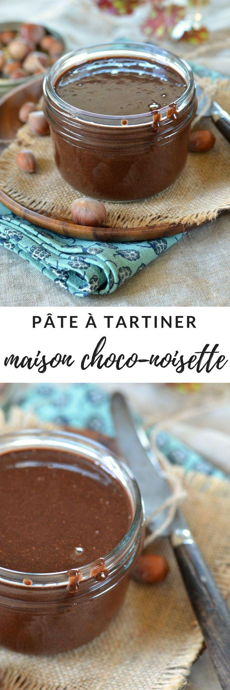 Pâte à tartiner maison chocolat noisette