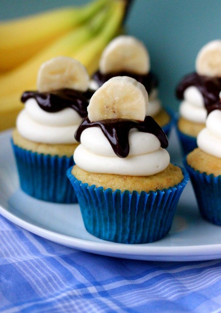 Easy Banana Cupcakes from Your Cup of Cake: Sweet, Cupcake Recipes, Banana Cupcakes, Cream Cheese, Bananas, Food, Yummy, Dessert