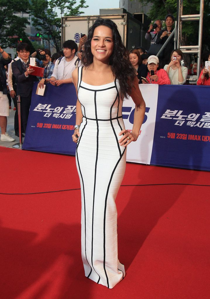Michelle Rodriguez Bandage Dress - Michelle Rodriguez Looks - StyleBistro