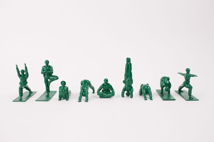 Created by yoga practitioner Dan Abramson in an attempt to get more people interested in yoga, Yoga Joes are here to keep the inner peace. Each set includes 9 Joes in various yoga poses. Get ready to