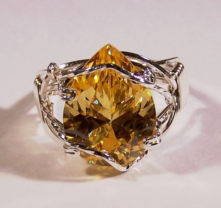 Golden Topaz Ring by CrafterGod.deviantart.com on @deviantART