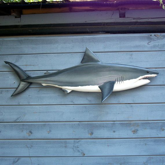 GREAT WHITE SHARK wood carving, shark art, ocean art, maritime decor, beach art, game fish, ocean art, wall mount, 59