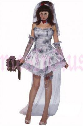 Halloween Zombie Bride Fancy Dress