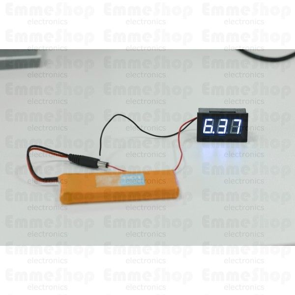 This is a standalone DC voltage meter. It measures 3V-30V with 1% accuracy.