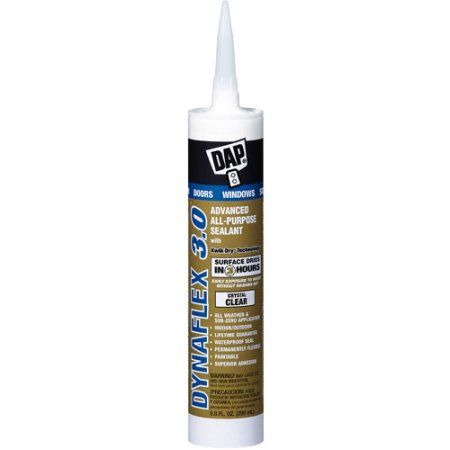 Dap 18362 Crystal Clear DAP Dynaflex 3.0 All Purpose Sealant, Multicolor