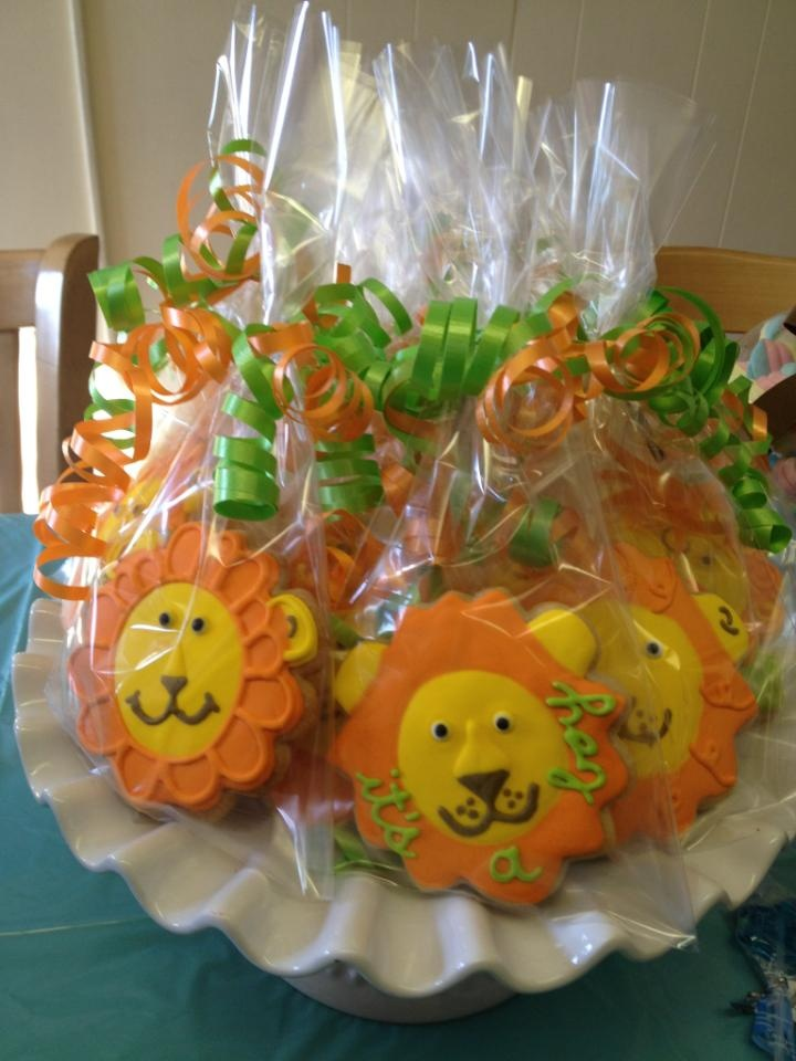 Lion Theme Baby Shower Cookies - King of the Jungle