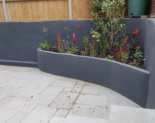 Image Result For Painted Cinder Block Retaining Wall Things To