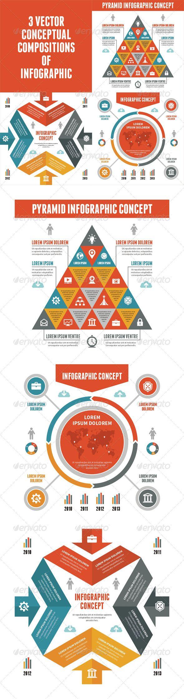 Vecteur clipart de main sur 201 cologie conscience image concept - 3 Infographic Concept For Presentation