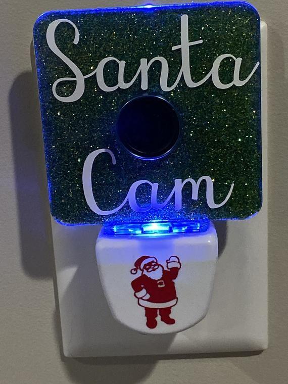 Santa Cam Nightlight Etsy Santa Cam Night Light Night Light Diy