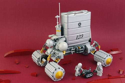 A good Martian makes do with the LEGO parts he's got