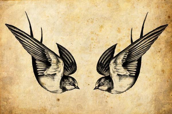 Die Schwalbe ist ein Vogel, der wählt eines Partner fürs Leben und wird nur mit dem Vogel und keine andere Schachteln. Ein Schwalbe-Tattoo ist daher auch ein Symbol für ewige Liebe und Treue zur Familie. Schwalbe-Paare Reisen lange Strecken, nur um ihren Weg zurück zu einander zu Hause zu finden...