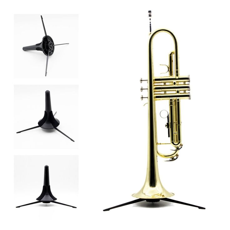 Professional Trumpet Tripod Holder Stand with Detachable & Foldable Metal Leg Trumpet Parts Accessories