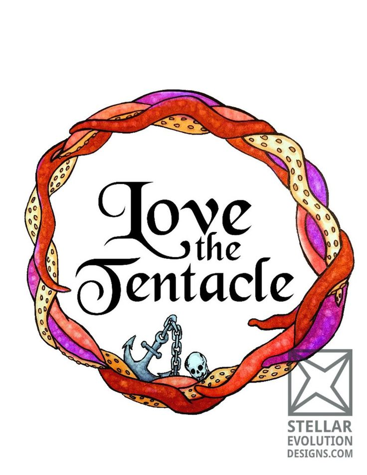 Love the Tentacle-White Wall Art by Stellar Evolution Designs Do you love the weird, wonderful world of the ocean? Love mysterious, dangerous things with tentacles? Then this hand drawn piece, originally created in copic and ink, is just perfect for you, or a tentacle loving friend!