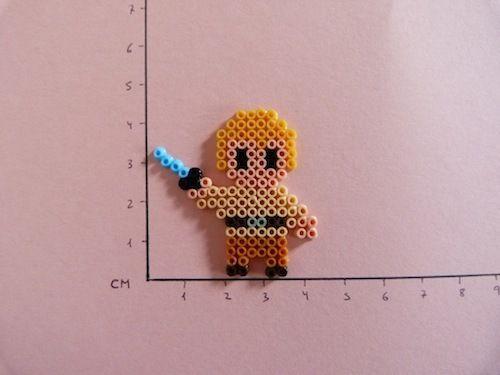 Star Wars Luke Skywalker hama beads mini by Soledad Hernandez