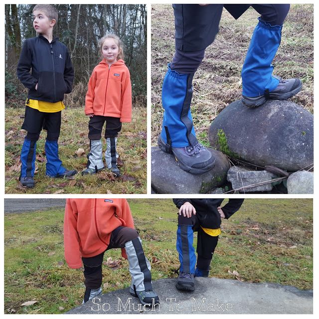 Kids' Hiking Gaiters Pattern | So Much To Make