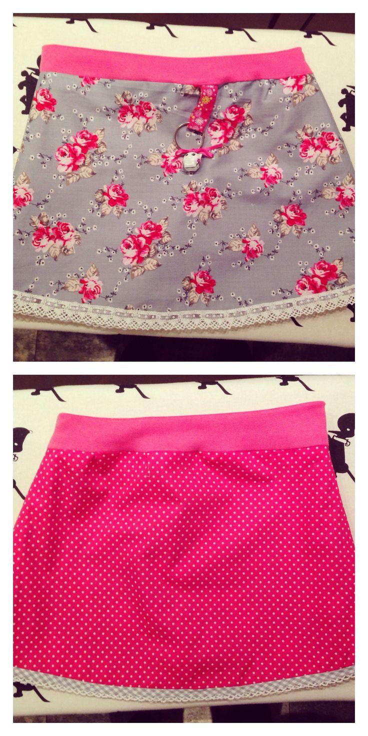 Double sided skirt for a girl- pattern bandenlint.nl Tweezijdig rokje voor een meisje- patroon bandenlint.nl