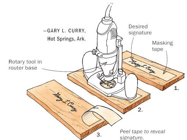 Put Your Signature On Your Work By Gary L Curry Here S A Method I Developed To Sign And Date My Woodworking Tools Fine Woodworking Woodworking Jigs