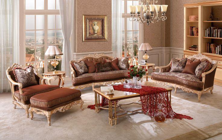 Royal sala de estar sofá mobiliário sofá de madeira maciça para casa em Sofá para a sala de Móveis no AliExpress.com | Alibaba Group