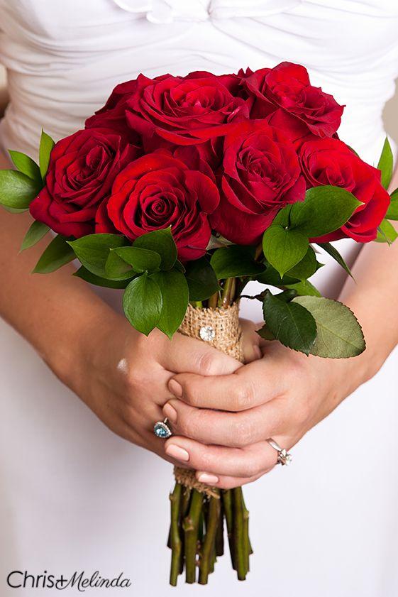 Simple red rose wedding bouquet with burlap #weddingphotography #rusticwedding #rustic #atlantaweddingphotography #atlantaweddingphotographers #countrywedding #burlap #weddingbouquet #bridalbouqet #redrosebouquet #rosebouquet Chris and Melinda Photography