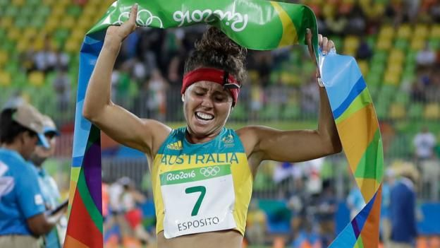 Australia's Chloe Esposito won Olympic gold in the modern pentathlon as Great Britain failed to land a medal for the first time since the women's event was introduced in 2000.  Esposito won with 1,372 points ahead of France's Elodie Clouvel (1,356) and Poland's Oktawia Nowacka (1,349).  Kate French was GB's highest-placed finisher in sixth place with 1,331.