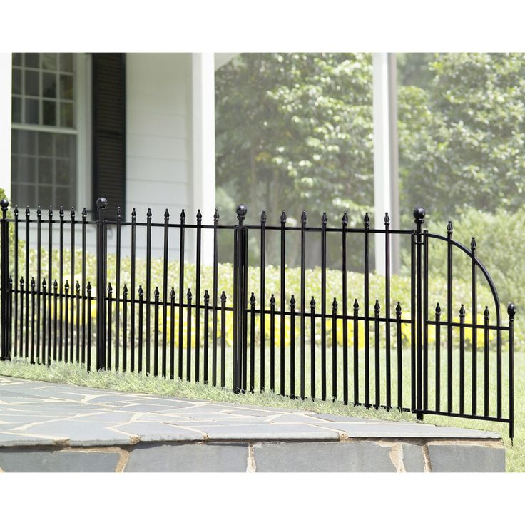Shop No Dig Powder Coated Steel Fence Panel Common 29 In