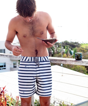 mixed stripes - Helmsman Boardies by The Critical Slide Society.