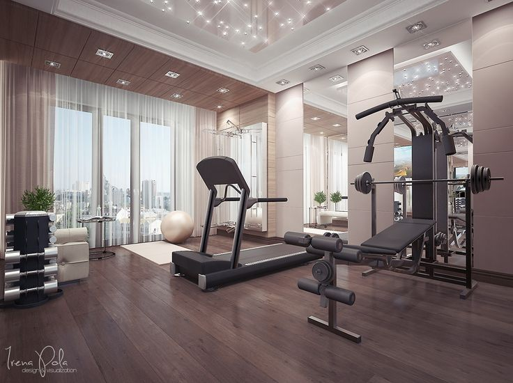 love the high ceilings and tall windows here light is key to a home gym