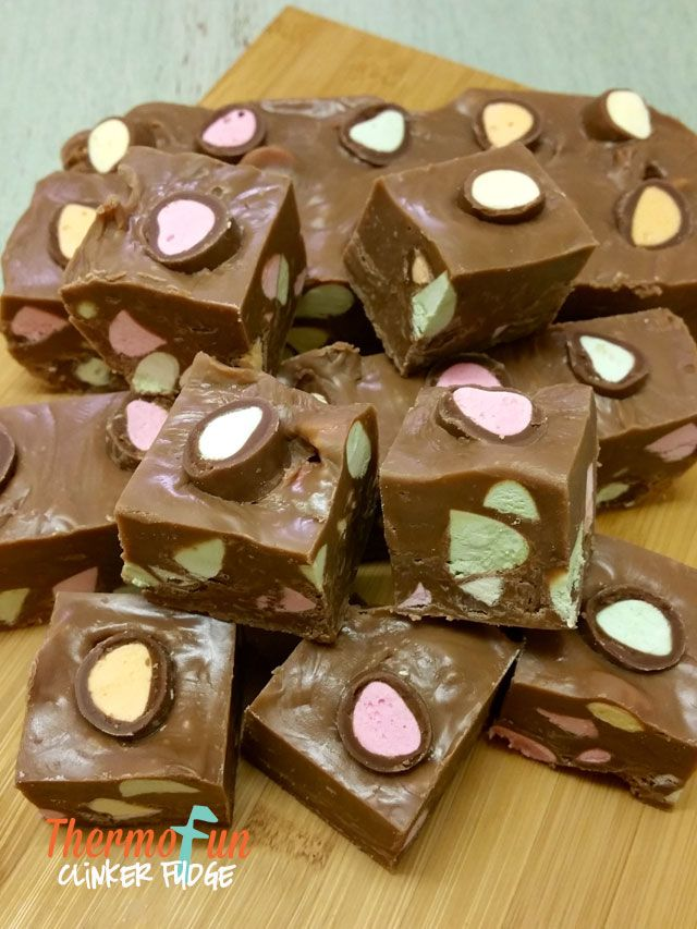 Recipe creation at it's finest - stand at fridge eat last of the fudge,follow that up with clinkers. Oh MY! Here you go thermomix clinker fudge! Enjoy!