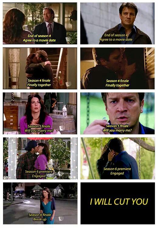 Gilmore Girls vs. Castle...my two favorite shows. If this happens on Castle I will be pissed!