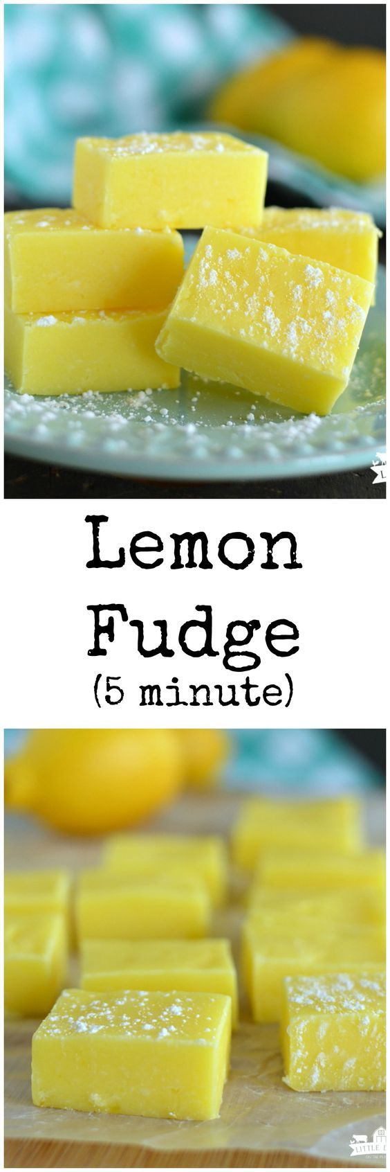 Lemon Fudge only takes 5 minutes and 4 ingredients to make! It's an easy dessert recipe that's so fun for spring/Easter!