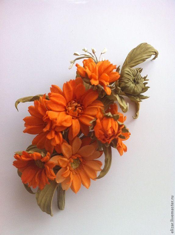 Брошки с полевыми цветами Коэль