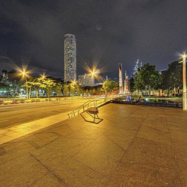 Esplanade - Theatres on the Bay Singapore Night Scene