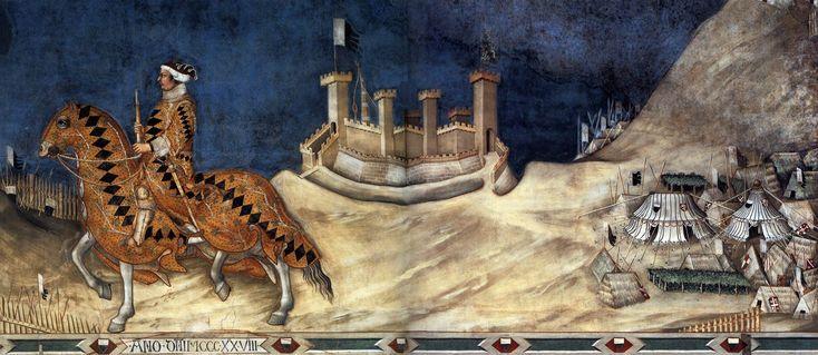 Guidoriccio da Fogliano all'assedio di Montemassi, 1330, Palazzo comunale di Siena / Simone Martini (Siena, 1284 circa – Avignone, 1344)