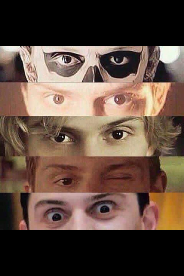 Evan Peters' American Horror Story characters