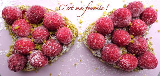 C'est ma fournée !: Petits coeurs pistache/framboises pour les nuls......