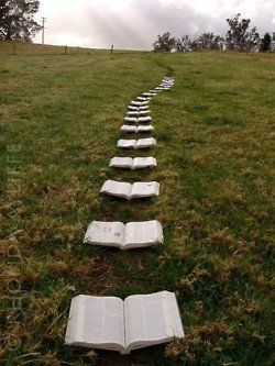 Bibles with verses about marriage highlighted as a proposal. I've pinned this before but I've lost it :(