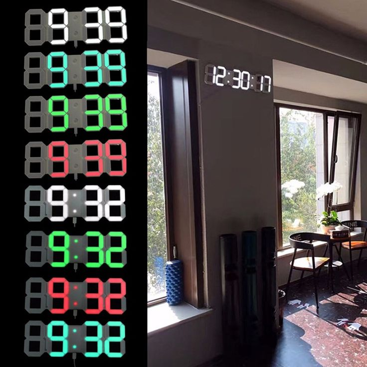 "PVC Home Clocks Remote Control Digital Wall Clock LED Thermometer Countdown Calendar 4.3""/5"" Modern Home Decor"