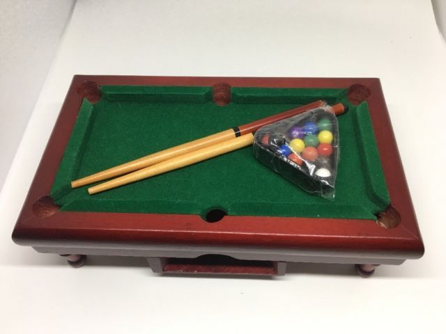 Mini Table Top Pool Table And Accessories 9x5x3u201d Kids Games Retro Xmas Gifts