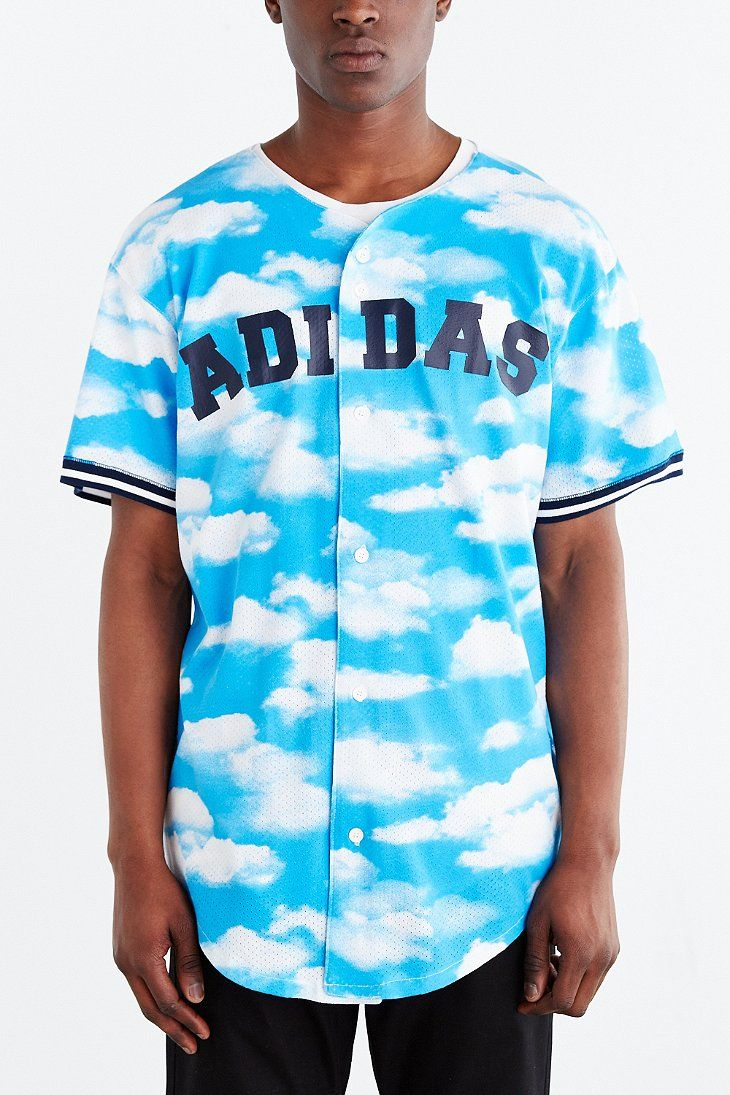 Adidas originals cloud baseball jersey urban outfitters for Adidas floral shirt urban outfitters