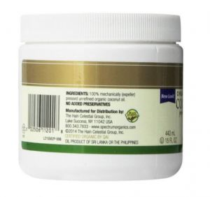 Ingredients should be clearly written like here.  http://growlonghealthyhair.com/spectrum-organic-coconut-oil-review-love-in-a-jar