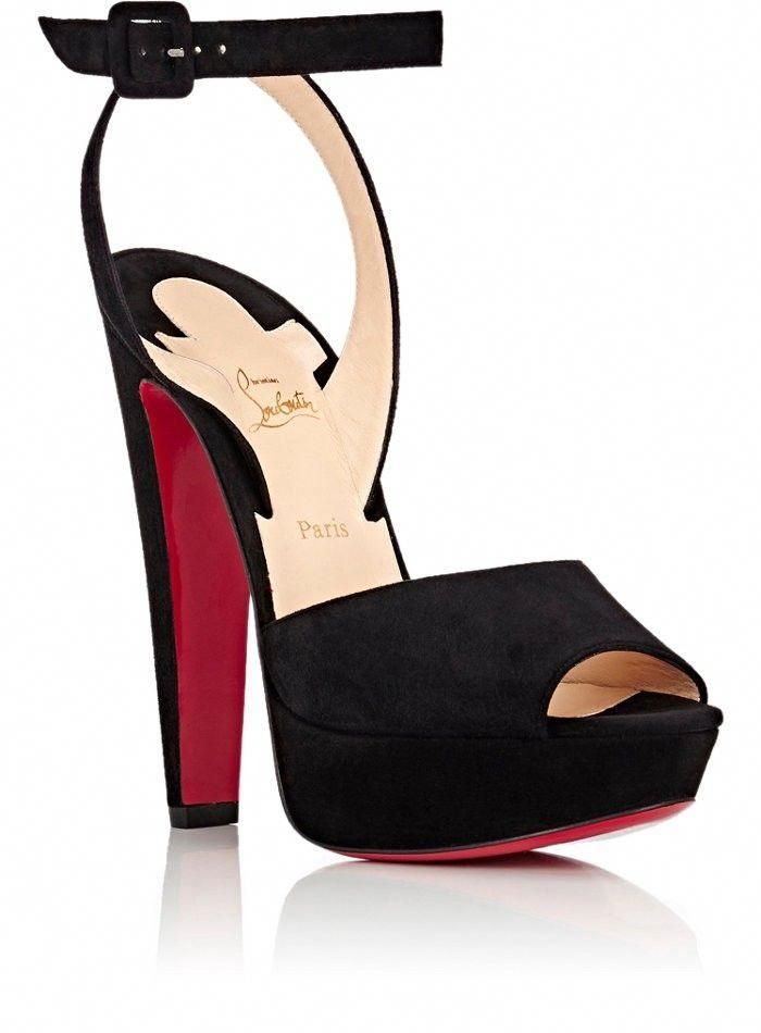1405e4cd041 Christian Louboutin Louloudancing Suede Platform Sandals - 10.5 Red   ChristianLouboutin