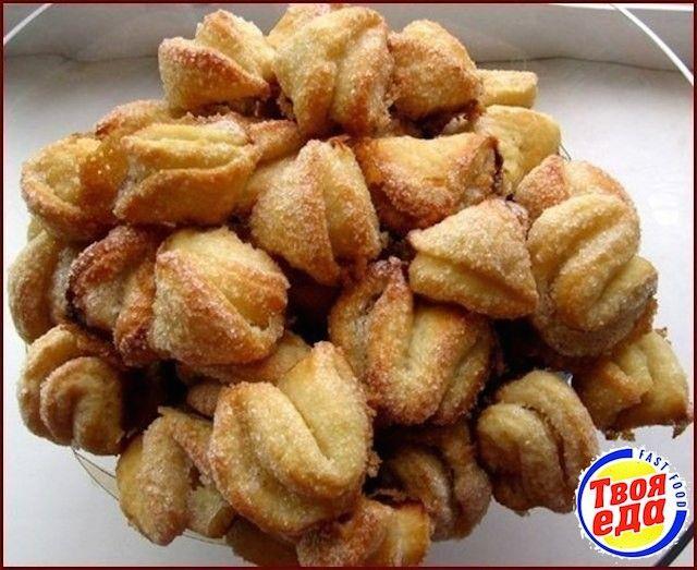 Творожное печенье Поцелуйчики - Кулинарные рецепты