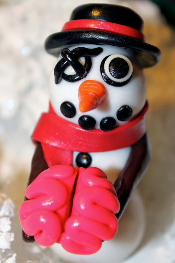 Mr Hughes the Zombie Snowman by jessicarenahan on Etsy, $30.00