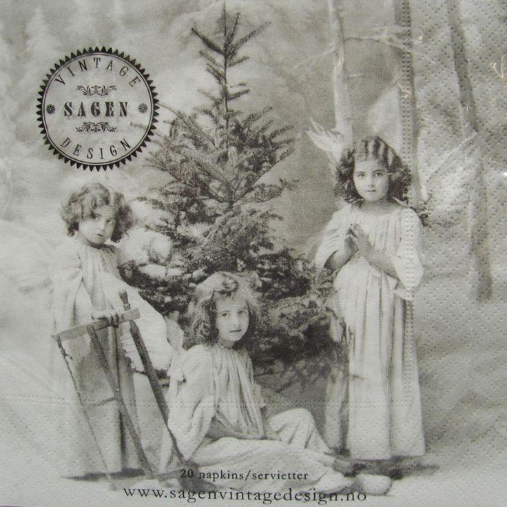 20 servietten christmas angels sagen vintage design engel. Black Bedroom Furniture Sets. Home Design Ideas