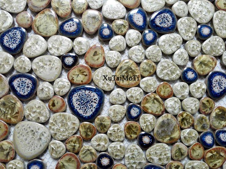 11ピース磁器小石モザイクタイルキッチンbacksplashの壁紙浴室水泳プール壁セラミックタイルガーデンサルーン床(China (Mainland))
