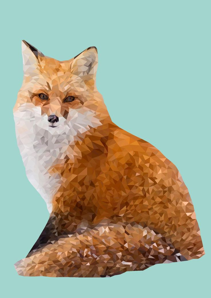 Polygonal Fox Print, Instant Download by VaciDesign on Etsy