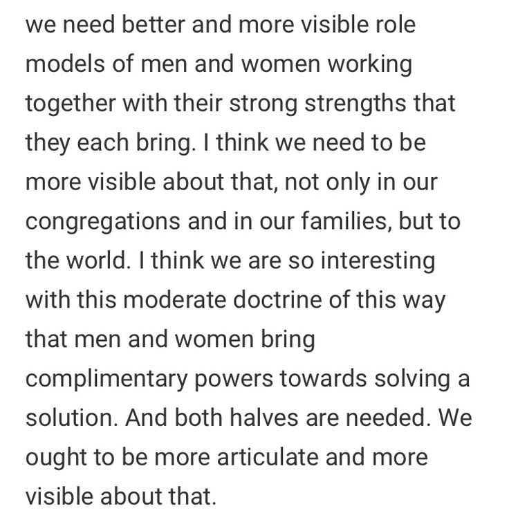 Both halves are needed Sister Eubank FAIR Mormon talk #lds #men #womem #culture #doctrine