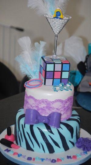 Girly 80's Themed Cake