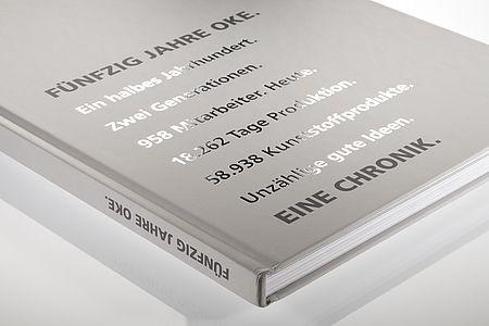 OKE // ANNIVERSARY PUBLICATION –printed on bvs gloss white, 170 g/qm and bvs matt white 170 + 300 g/qm